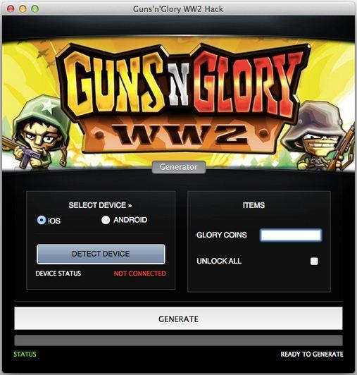 Cheat code for guns glory