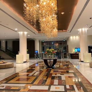 Hotel lobby of the Marriott Marquis City Center Doha