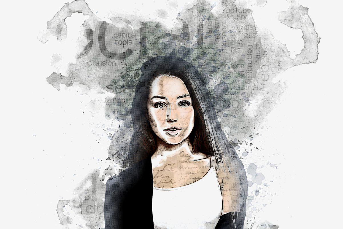 Paper Sketch Photoshop Action 525399