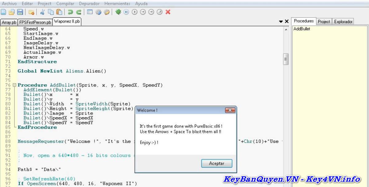Download và cài đặt Purebasic 5.70 Full Key, Phần mềm lập trình ngôn ngữ BASIC bá đạo nhất.