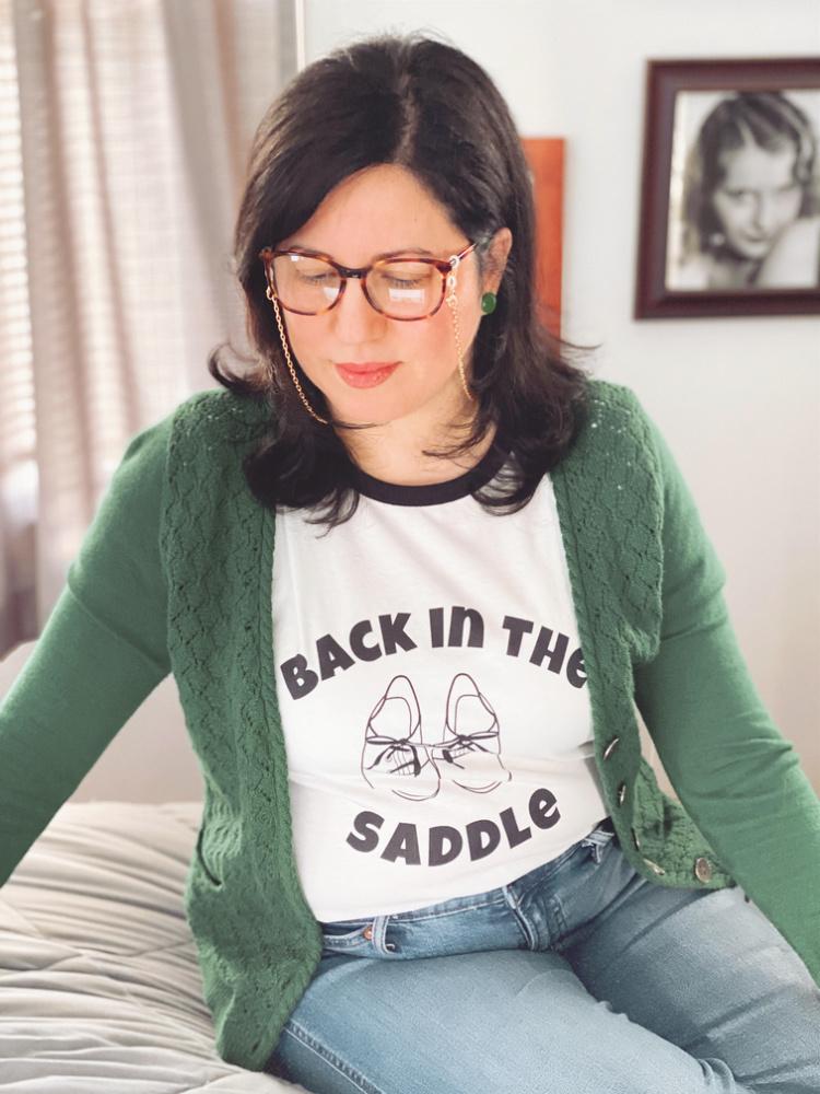 A Vintage Nerd, Vintage Blog, Back in the Saddle, Retro Lifestyle Blog, Plus Size Retro Fashion, Retro Tees, Darling in Dots, Darling in Dots March, Darling in Dots T-Shirt