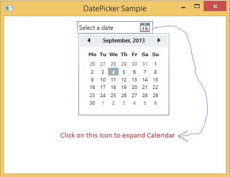 DatePicker Control in WPF