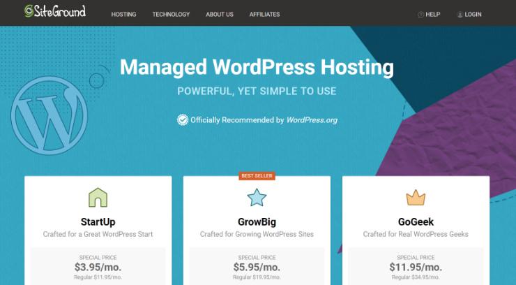 Managed WordPress Hosting SiteGround