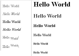 format teks html