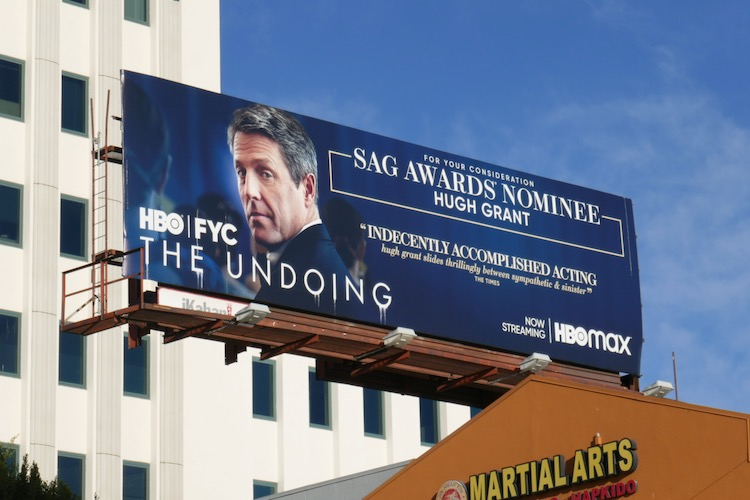 Hugh Grant Undoing SAG Awards nominee billboard