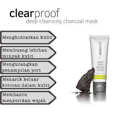 clear proof deep cleansing charcoal mask mary kay