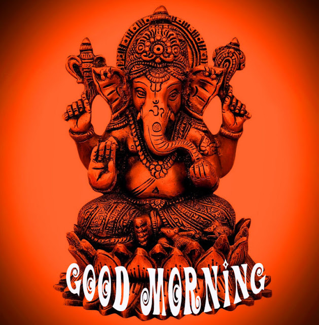 good morning message with ganesh image