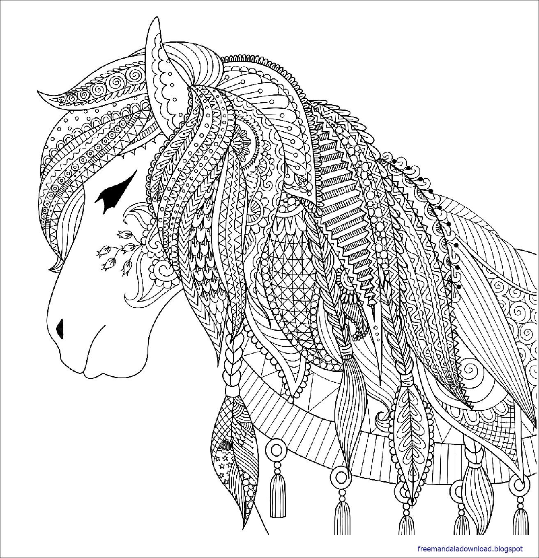 Malvorlage Pferd Wild - Kostenlos zum Ausdrucken