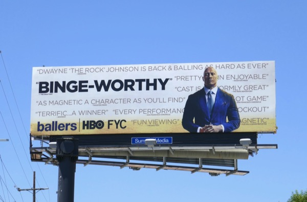 Ballers Binge-worthy season 3 Emmy FYC billboard