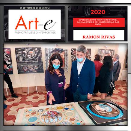 Obras de Ramón Rivas expuestas en una Sala del Seminario Obispo en el Premio Art-e 2020