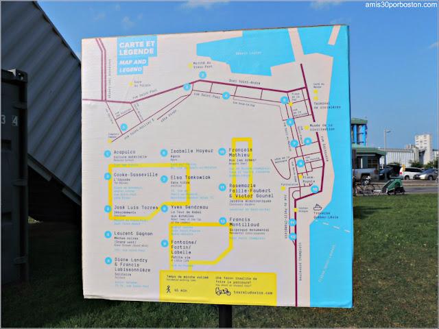 Mapa del Evento Les Passages Insolite en Quebec