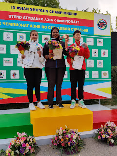 Kirti Gupta wins gold medal in junior women's trap in Asian shotgun