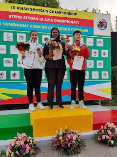 Kirti Gupta wins gold medal in junior women's trap in Asian shotgun