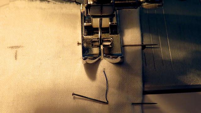 Colocación aguja en el inicio de la pinza