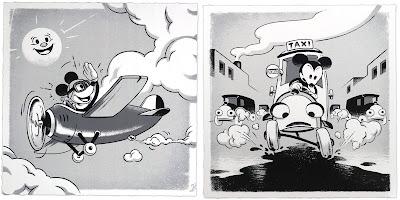 "Disney ""Mickey Vintage Travel"" Screen Print Set by Ameorry Luo x Cyclops Print Works"
