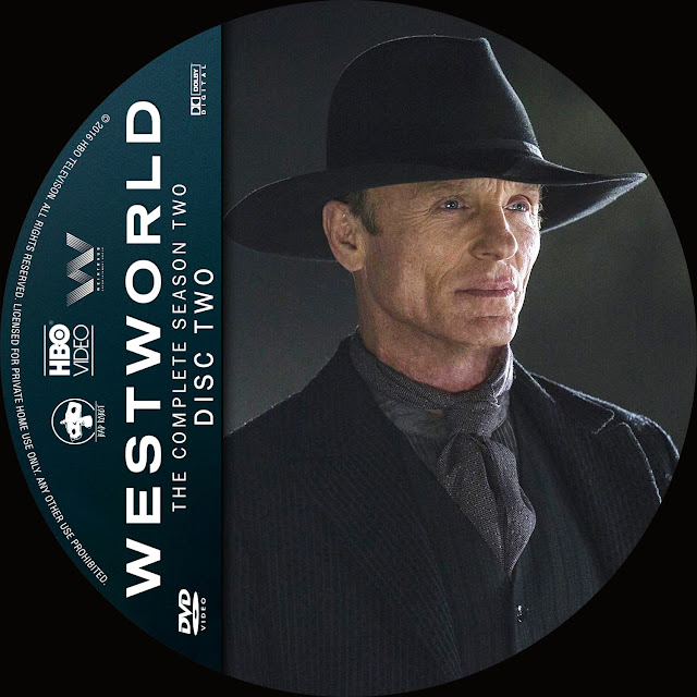 Label DVD Westworld Primeira Temporada Disco 2