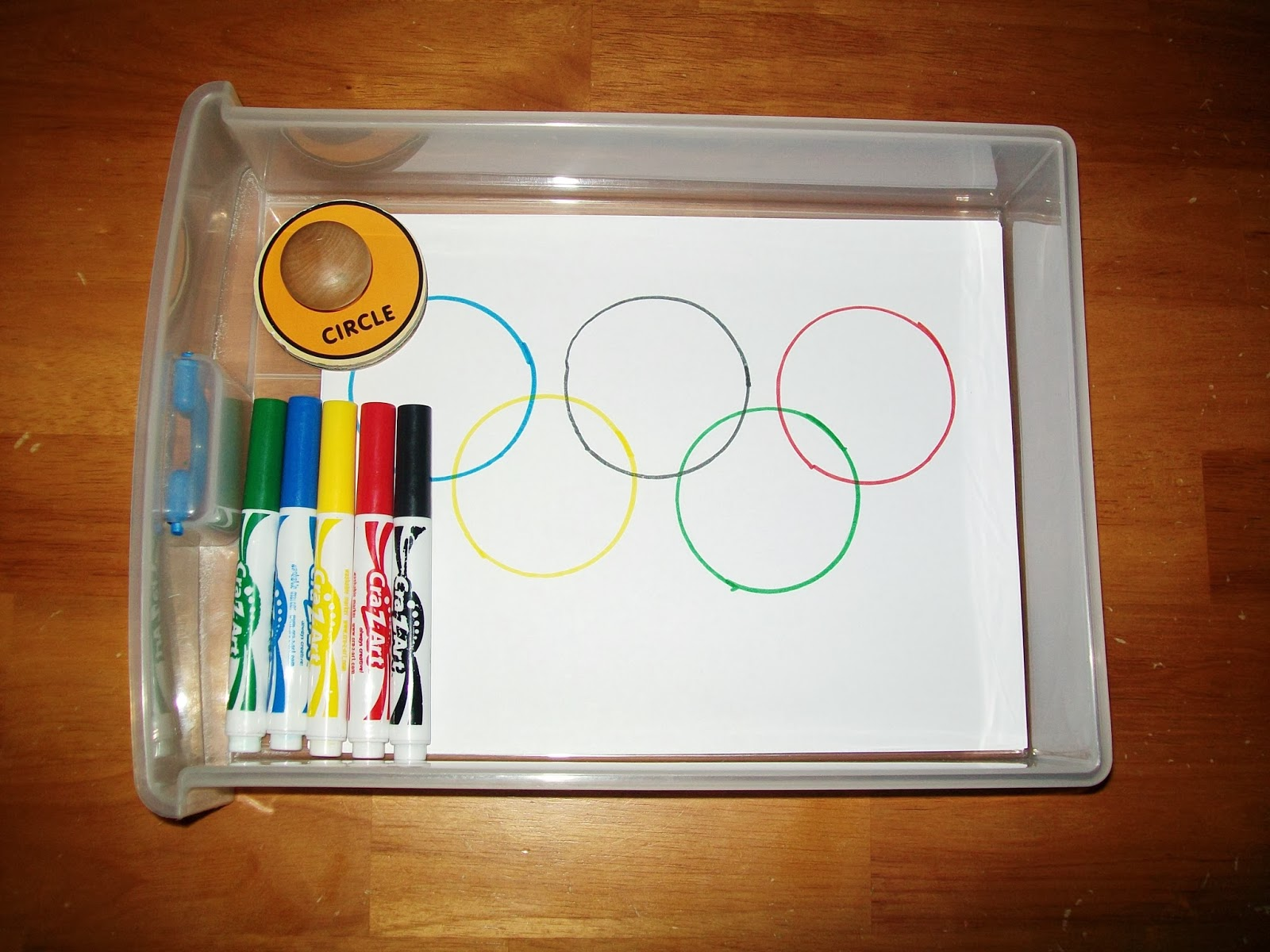 Olympic Symbol Tracing Activity