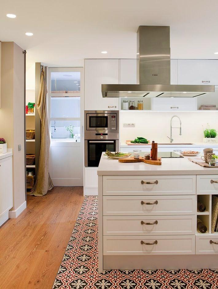 Perfeita ordem blog de decora o piso de madeira na for Azulejos antiguos para cocina