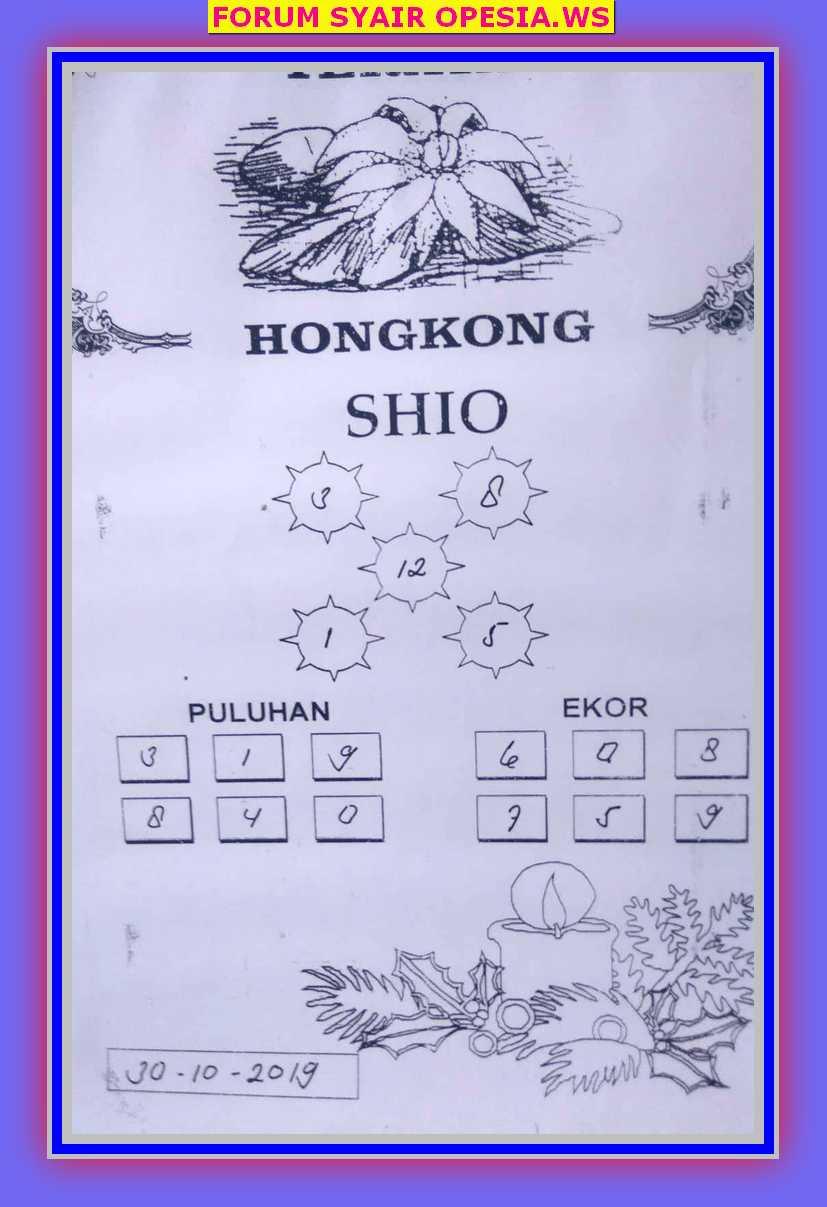 Kode syair Hongkong Rabu 30 Oktober 2019 27