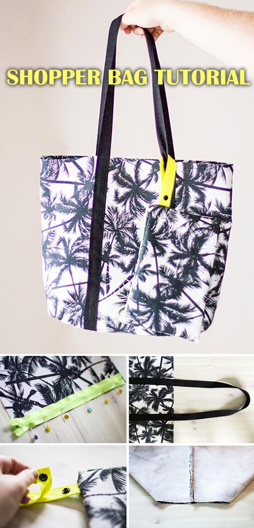 Shopper Bag & Matching Clutch Tutorial