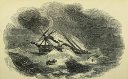 """The awful fate of the ship """"Abeona"""" 1820"""