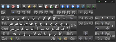 لوحة مفتايح على الشاشة Screen keyboards