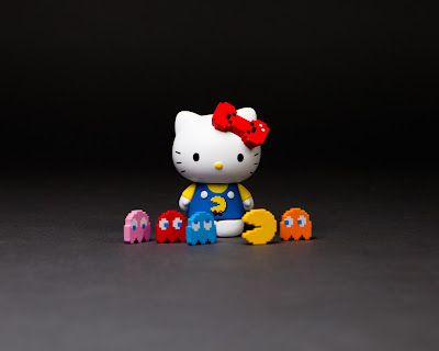 San Diego Comic-Con 2017 Exclusive Hello Kitty x Pac-Man Vinyl Figure Set by BAIT x Switch Collectibles