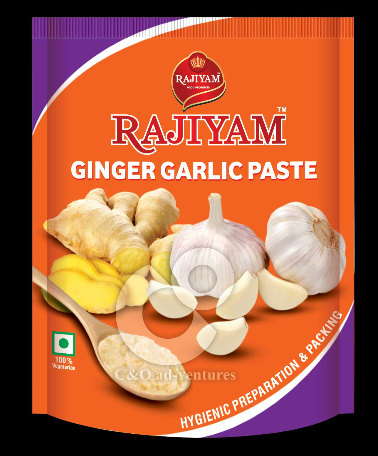 Package Design for Ginger Garlic Paste