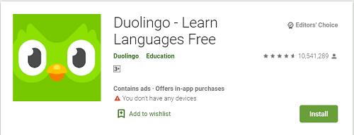 Duolingo: ইংরেজি শেখার অ্যাপ
