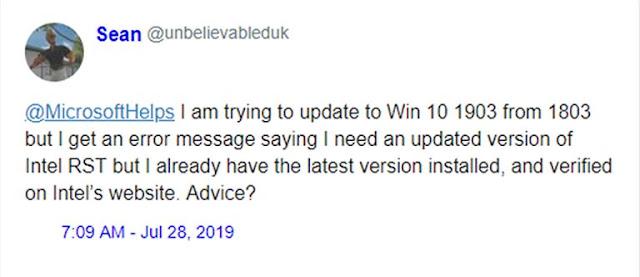 Windows 10 Memblokir Pengguna Untuk Menginstal Versi Mei 2019 Update