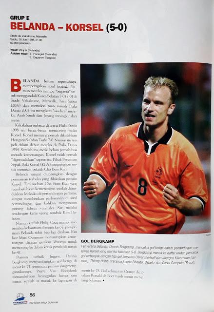 PIALA DUNIA 1998: GRUP E BELANDA VS KORSEL (5-0)