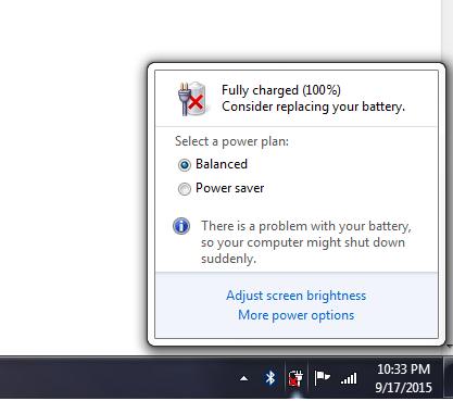Dsmlmd Blog Cara Menghilangkan Tanda Silang Pada Baterai Laptop