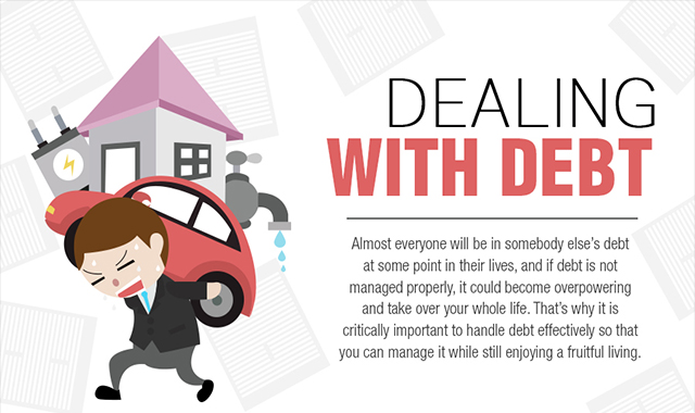 Dealing With Debt #infographic