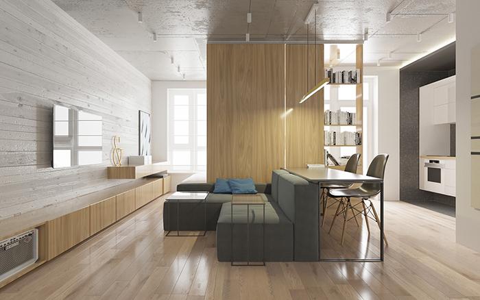 Thiết kế nội thất căn hộ chung cư nhỏ 42m2- 1