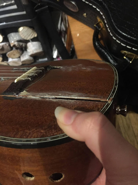 damaged ukulele