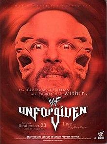 WWE / WWF Unforgiven 2001 - Event Poster