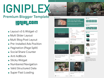 Igniplex Premium Blogger Template By Igniel