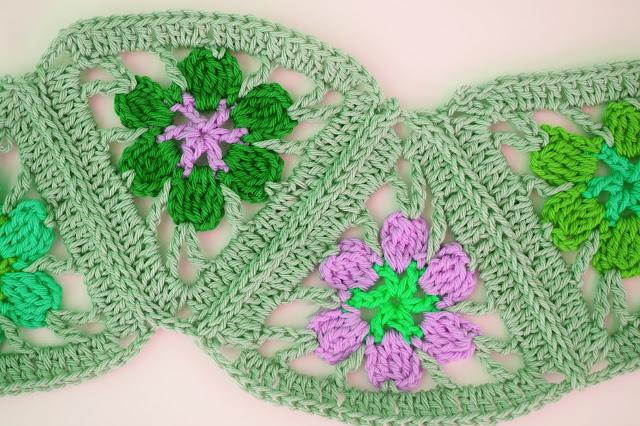 4 -  Crochet Imagen Puntada de triangulos flores a crochet y ganchillo por Majovel Crochet