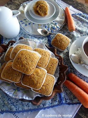 Magdalenas integrales con zanahorias