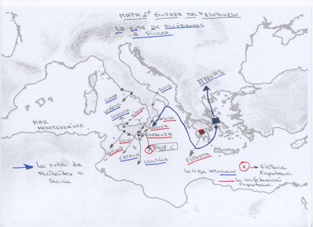 La Guerra del Peloponeso.