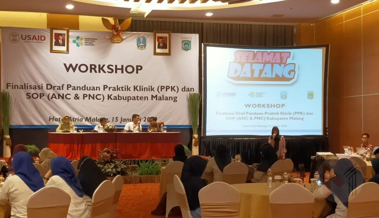 Dinkes Kabupaten Malang Gelar Workshop Finasisasi Draf SPO Sebagai Upaya Peningkatan Pelayanan Kesehatan Dan Menurunkan AKI/AKB
