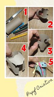 Como fazer um bumba meu boi com rolo de papel