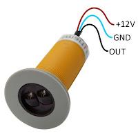 Schodowy czujnik ruchu do LED 12V - wyprowadzenia