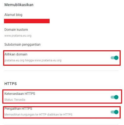 Set ssl cloudflare di Blogger