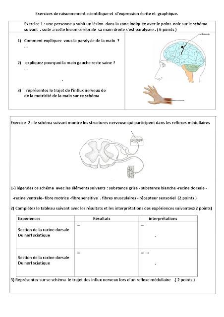 Exemple d'un Contrôle 3 ACPI les fonctions de communication svt