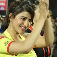 Shruthi haasan at  ccl match