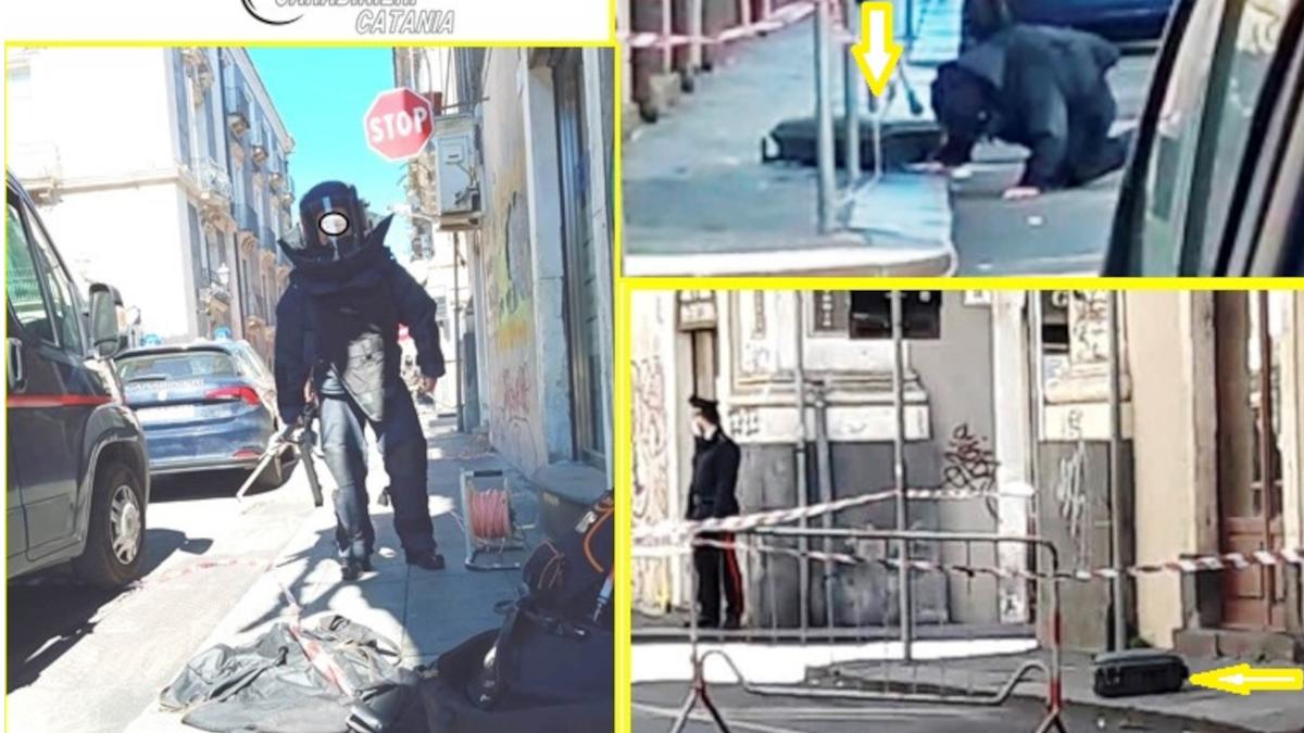 Allarme bomba via Vittorio Emanuele Carabinieri