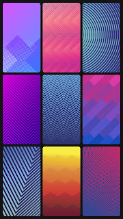 simple geometric gradient blue green pink purple magenta 4k hd fhd lines forms red