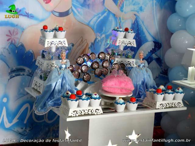Decoração festa de aniversário Cinderela provençal