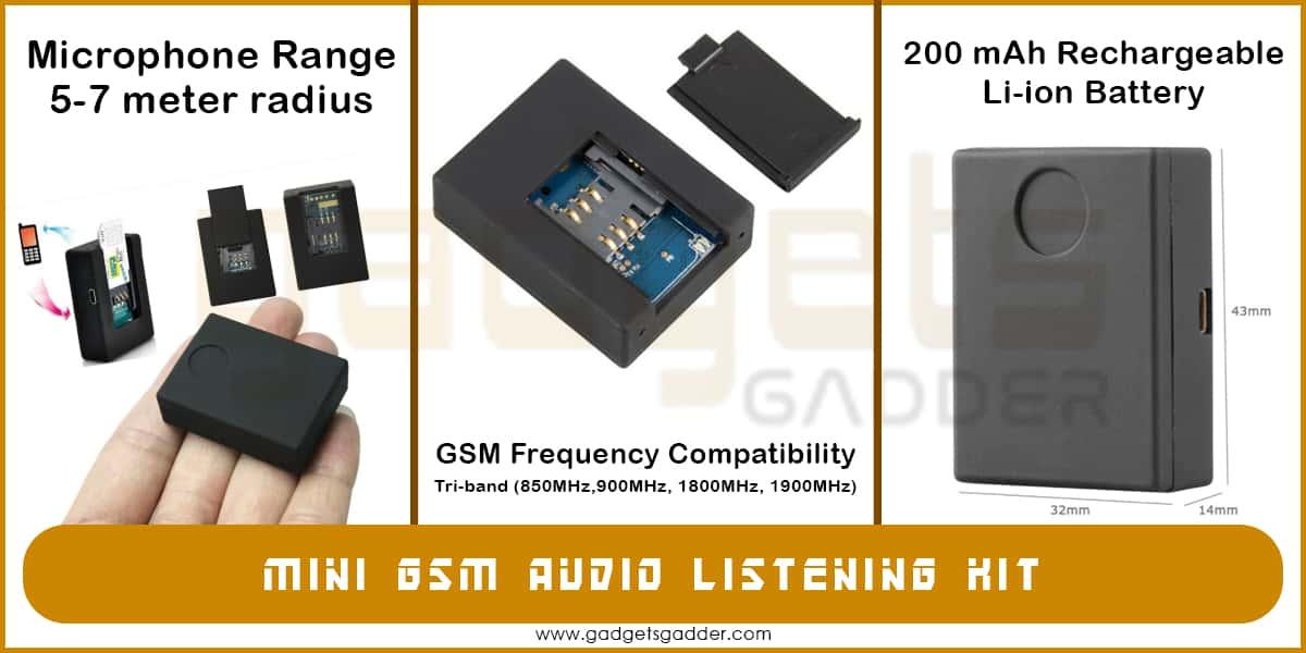 mini gsm audio listening kit